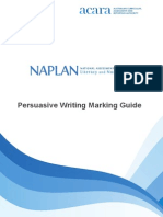 persuasive writing guide naplan