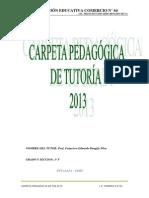 Carpeta Pedagógica de Tutoria 2015