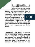 Derecho Mercantil & Derecho Laboral