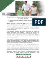 07-04-2015 Ofrece Nerio Torres Arcila atención de servicios públicos en no más de 36 horas