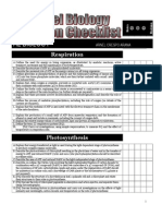 Checklist A2 Level Biology Cambridge