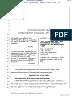 Netscape Communications Corporation et al v. Federal Insurance Company et al - Document No. 28