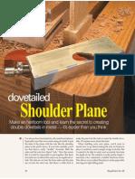 Shopnotes 88 Dovetailed Shoulder Plane