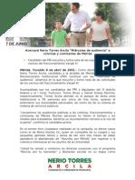 08-04-2015 Acercará Nerio Torres Arcila 'Miércoles de audiencia' a colonias y comisarías de Mérida