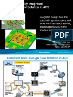 MMIC Design Flow Using ADS