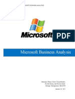 Microsoft Analysis
