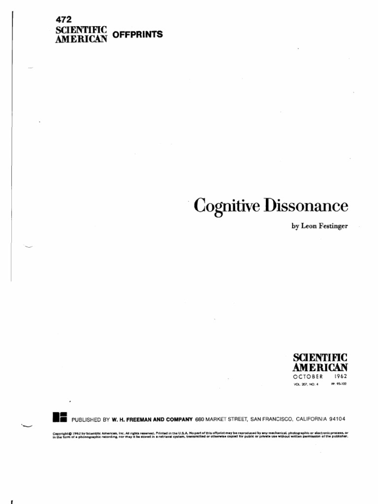 cognitive dissonance essay