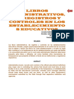 Libros Administrativos de La Escuela - Arnenomo - 20-10-2014
