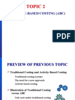Lecture 2 - Activity Based Costing