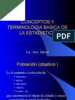 Conceptos y Terminologia Basica de La Estadistica