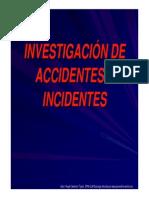 Investigación de Accidentes e Incidentes Laborales