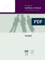 Managing Conflicts of Interest in the Public Sector - Toolkit