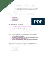 PMP Certification Examination Sample