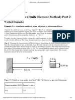 FEM for Beams (Finite Element Method) Part 2