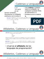 Alfabetos, Cadenas y Lenguajes