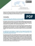 Panorama de La Educación en Colombia OCDE