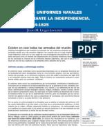 LOS UNIFORMES NAVALES DURANTE LA INDEPENDENCIA. 1814-1825 por JULIO M. LUQUI-LAGLEYZE