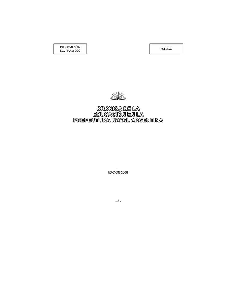 CRÓNICA DE LA EDUCACIÓN EN LA PREFECTURA NAVAL ARGENTINA