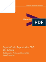 Accenture CDP Supply Chain Research Report Transcript