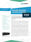 Vaultize Secure Content Access Gateway Data Sheet