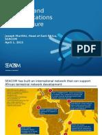 HeadofEastAfrica SEACOM Joseph Muriithi Transport and Communication Infrastructure ConnectedEA2015 1-03-15