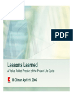 Lesson Learnt for Project, Gilman-slides