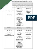 II Tura - Harmonogram Przebiegu Egzaminów Praktycznych