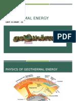 Geothermal Energy -CIII