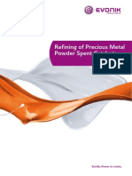 Refining of Precious Metal Powder Spent Catalyst Waste