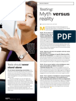 Testing Myth Versus Reality