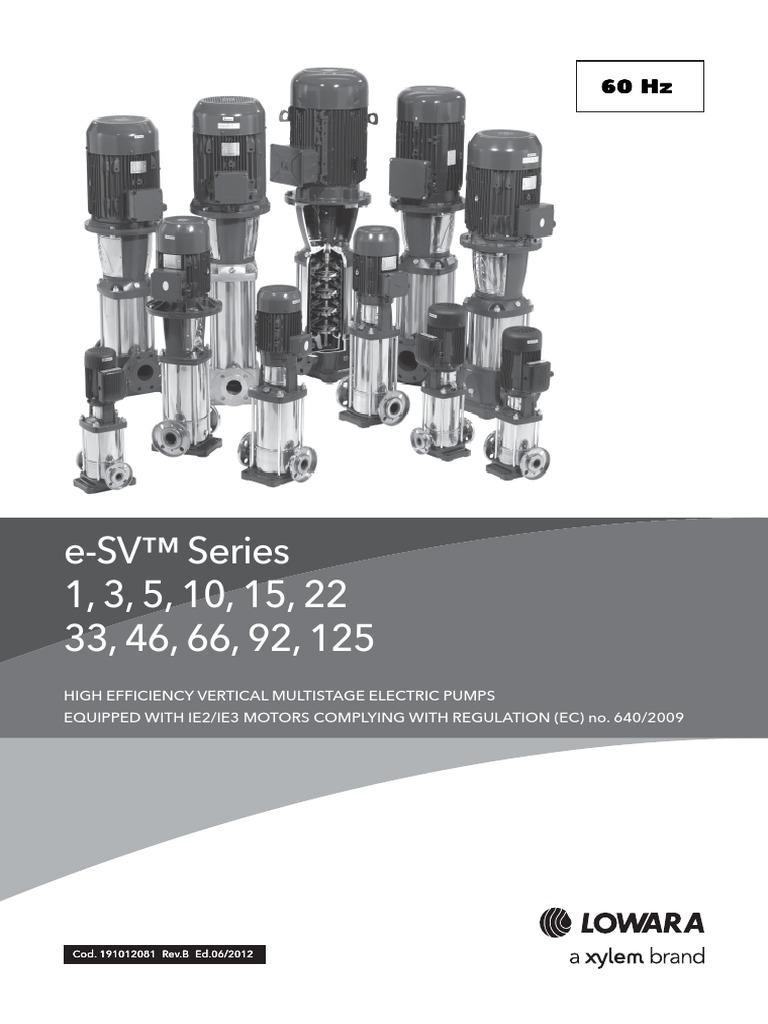Lowara Multi-stage Pumps Catalogue | Pump | Hvac