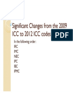 Significant Changes From the 2009 Icc to 2012