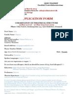 Application Form - Cohabitation, May 2015