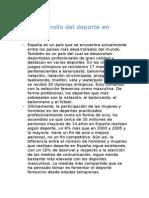 El Desarrollo Del Deporte en España