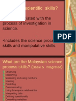Science Process SkillsIntegrated