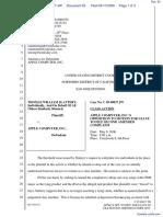 """The Apple iPod iTunes Anti-Trust Litigation"" - Document No. 63"