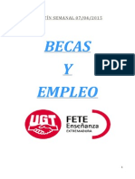 Boletín de Becas y Empleo. Semana Del 7 de Abril de 2015