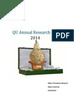 QU Annual Research Report 2014