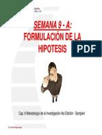 formulacion de la hipotesis