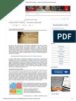 Análise SWOT (Matriz) - Conceito e Aplicação _ Portal Administração