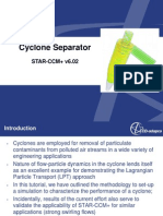 CFD validation of cyclone separator using star ccm+