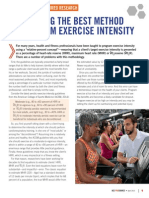 Ace Exercise Intensity