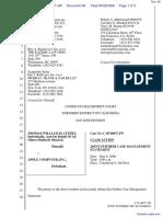 """The Apple iPod iTunes Anti-Trust Litigation"" - Document No. 66"