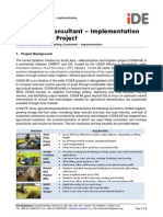 CSISA-MI Marketing Technical Consultant Implementation TOR