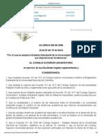 Acuerdo 008 de 2008 (Estatuto Estudiantil)
