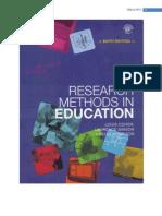 კვლევის მეთოდები განათლების მეცნიერებებში