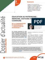 Education Du Patrimoine 72-Mars-2012