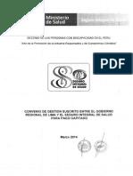 Convenio de Gestion Entre Gobierno Regional Lima y SIS Para Pago Capitado
