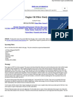 Engine Oil Filter Study