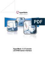 HyperMesh 11.0 LS-DYNA Tutorials